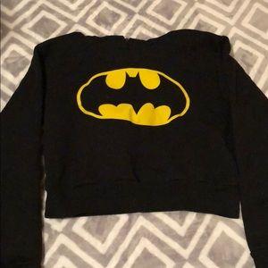 Tops - Cropped Batman hoodie
